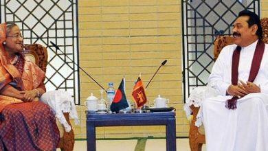 Photo of দ্বিপক্ষীয় বৈঠকে শেখ হাসিনা-রাজাপাকসে
