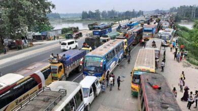 Photo of ঢাকা-টাঙ্গাইল মহাসড়কে ২৫ কিলোমিটার যানজট