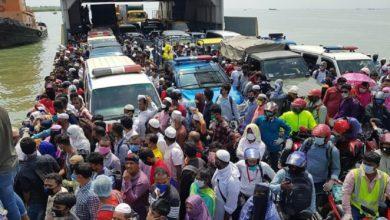 Photo of শিমুলিয়ায় ঘরমুখো মানুষের ঢল