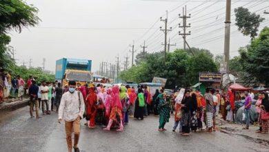 Photo of গাজীপুরে মহাসড়ক অবরোধ করে শ্রমিকদের বিক্ষোভ